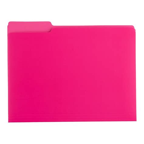 letter size pink letter size interior file folders the container store