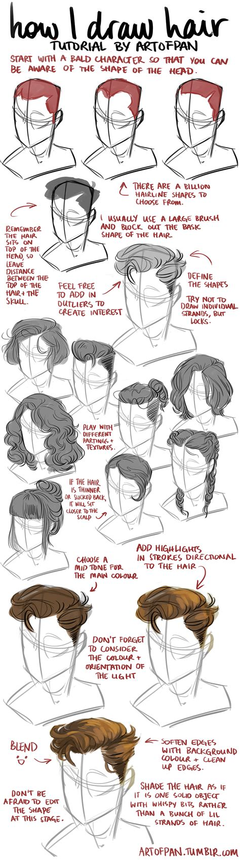 tutorial design character hair tutorial by artofpan on deviantart