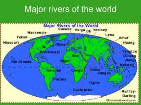 Great Rivers Of The World Map by Ppt Major Rivers Of The World Powerpoint Presentation