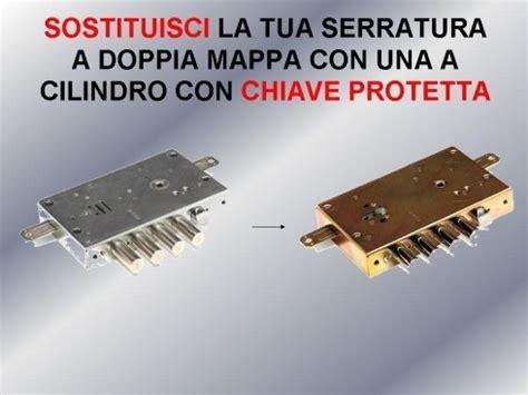 smontaggio serratura porta blindata sostituzione completa della serratura doppia mappa per
