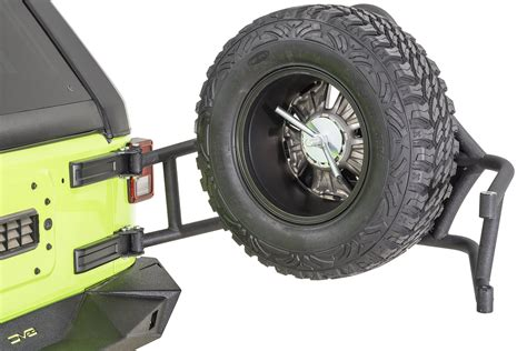 jeep tire carrier dv8 offroad tcttb 01 tc 1 tire carrier for 07 18 jeep