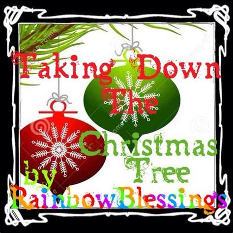 taking down the christmas tree a poem by