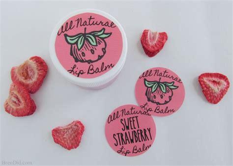 Nature Lip Balm Strawberry diy sweet strawberry lip balm recipe bren did