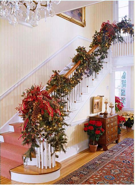 garland for stair banister 12 beautiful christmas banisters