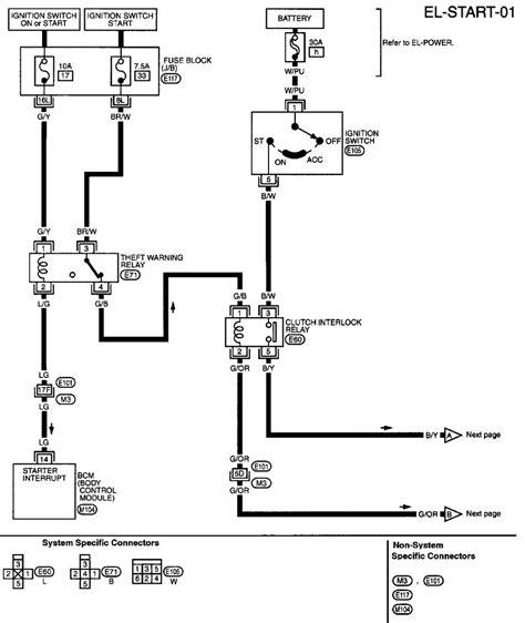 nissan sentra 1996 radio wiring diagram get free image