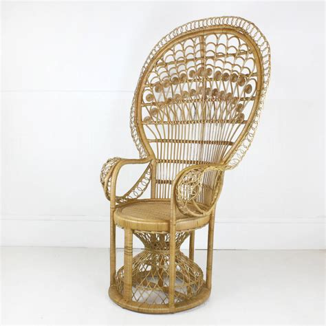 Peacock Chair For Sale by Elaborate Rattan Peacock Chair By Out There Interiors