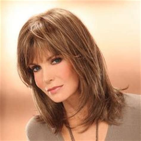 wigs medium length feathered hairstyles 2015 cute medium length shag hairstyles for women over 50