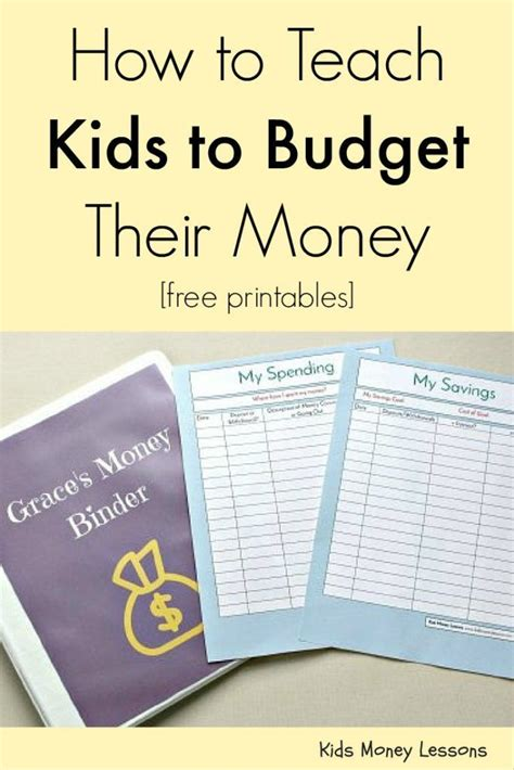 how to teach to budget their money free printables