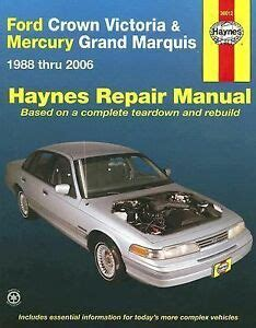 free service manuals online 2000 ford crown victoria transmission control 1988 2006 haynes ford crown victoria mercury grand marquis repair manual 1563926393 ebay