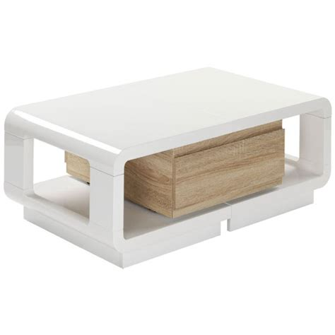 white gloss coffee table with drawers anka extendable white high gloss coffee table with drawer