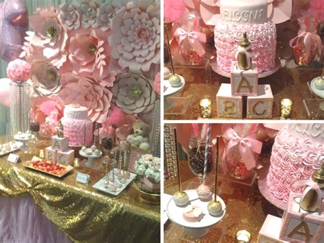 Pretty Baby Shower Themes by Pretty Pink And Gold Baby Shower Baby Shower Ideas