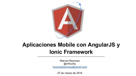 angularjs tutorial with ionic aplicaciones mobile con angularjs y ionic framework