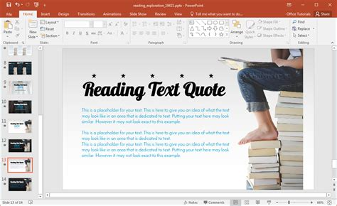 animated reading powerpoint template