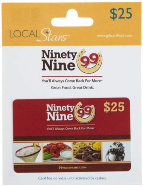 Restuarant Gift Cards - ninety nine restaurants gift card 25 shop giftcards