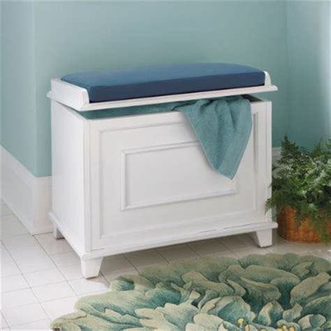 Storage Bench For Bathroom Springfield Storage Bench With Cushion Grandin Road