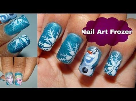 tutorial nail art frozen unhas decoradas frozen tutorial nail art agostotododia
