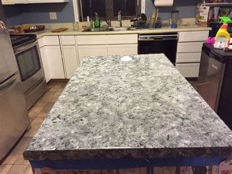Inexpensive Alternatives To Granite Countertops by Laminate Countertops Painted To Look Like Faux