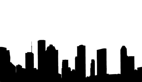 vector houston skyline silhouettes 123freevectors