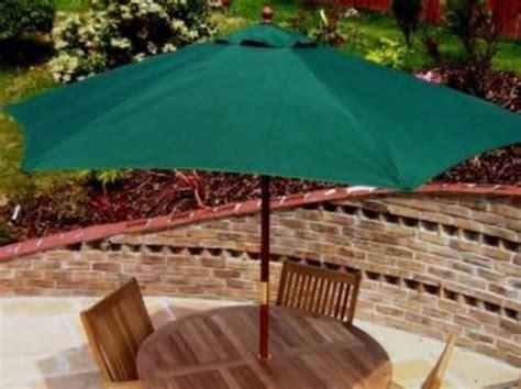 Patio Umbrella Finial Green 2m Parasol Garden Patio Umbrella Fabric Canopy 6