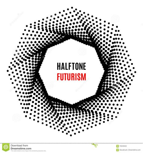 octagon futuristic technology halftone design stock vector