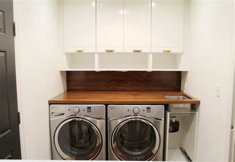 How To Install Cabinets In Laundry Room A Walnut Counter And Backsplash In The Laundry Room Chris