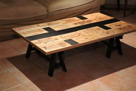 Table Avec Caisse De Vin cr 233 ation d une table basse sympa avec fa 231 ade de caisse 224
