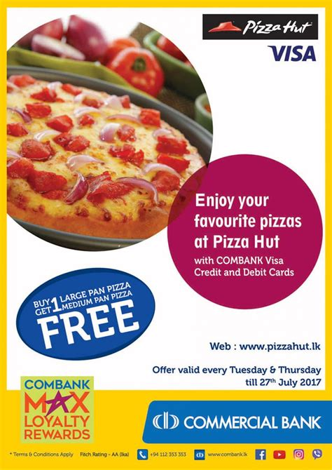 Free Pizza Hut Gift Card - buy one get one free pizza hut for combank cards classified lk