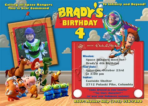 free personalized toy story birthday invitations template