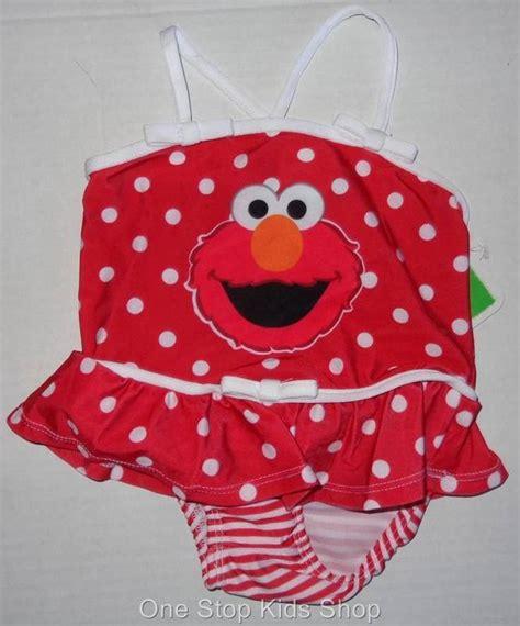 Swimsuit Elmo elmo toddler 2t 3t 4t bathing swimsuit swim suit sesame ebay