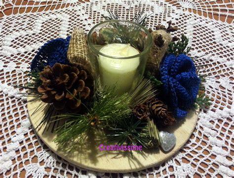 composizioni di natale con candele centrotavola di natale con candela e all