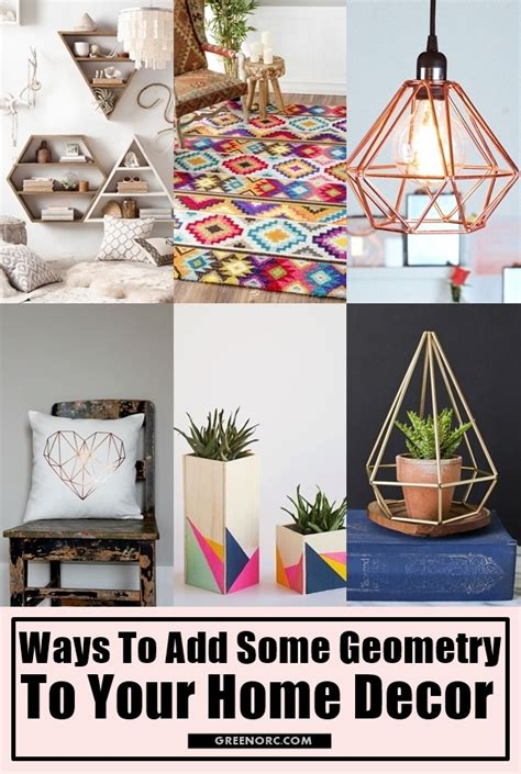 ways to decorate your home 10 ways to add some geometry to your home decor