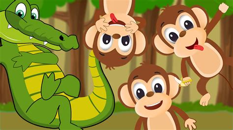 five monkeys swinging on a tree five little monkeys swinging in the tree five little