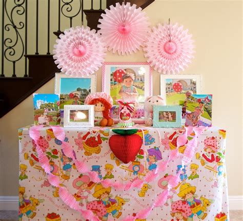 strawberry shortcake bedroom decor vintage strawberry shortcake 1st birthday party minted