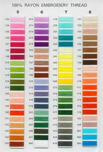 embroidery thread colors chart color embroidery free thread 171 embroidery origami
