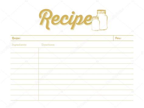 printable recipe card stock golden colored recipe card with mason jar template
