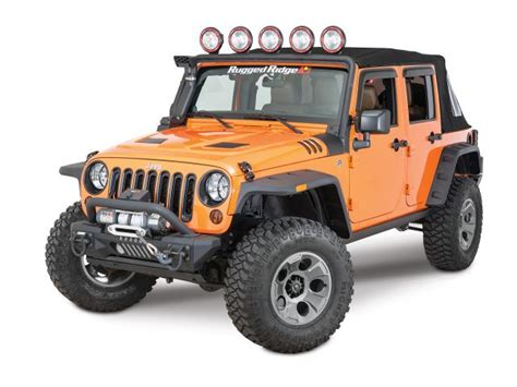 Jeep Wrangler Unlimited Light Bar Rugged Ridge 11232 21 Rugged Ridge Windshield Mount