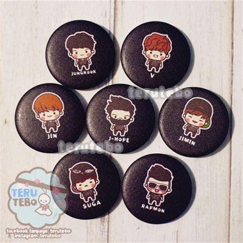 Pin Kaleng Kpop Bigbang 1 handmade accessories patches pins kpop logo chibi bts