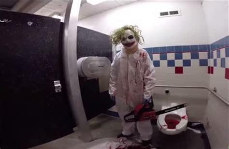 public bathroom pranks horrifying chainsaw massacre prank that ll make you scared