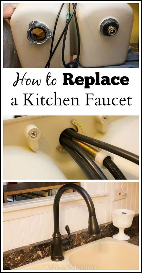 how to replace your kitchen faucet this detailed tutorial on how to replace a kitchen faucet