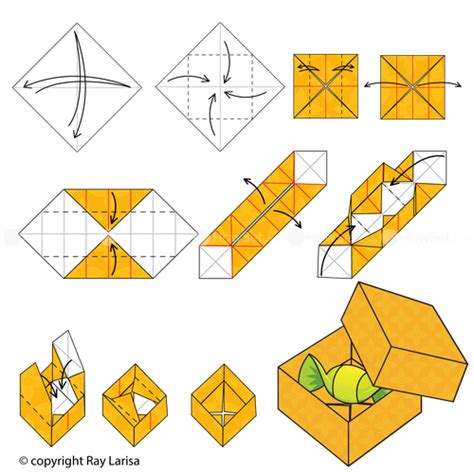 Steps To Make A Paper Box - box animated origami how to make origami