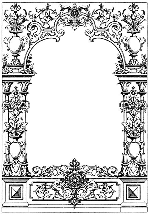 retro lives greyscale coloring book books border typographical frame clipart etc