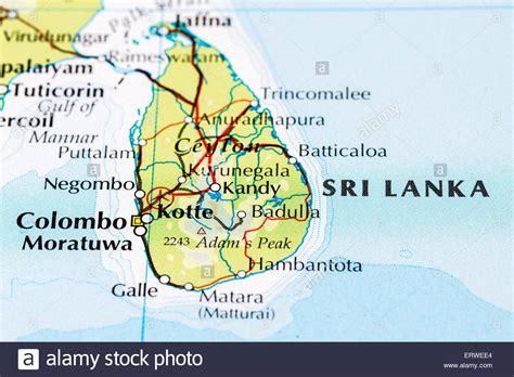 Ceylon Srilanka sri lanka map stockfotos sri lanka map bilder alamy