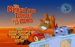 Disney The Brave Little Toaster The Brave Little Toaster Goes To Mars 1998 Dvd Movie Menus