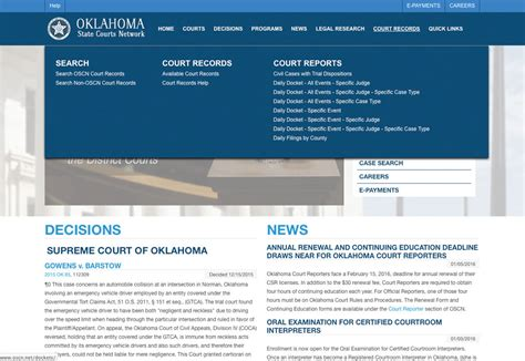 Oscn Court Records Search Many Court Documents To Go News