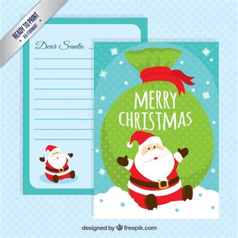 Kostenlose Briefvorlage Lustiges Weihnachtsmann Briefvorlage Der Kostenlosen Vektor