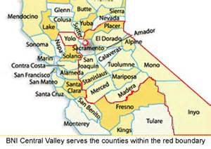 map of california central valley bni california central valley planned chapters business