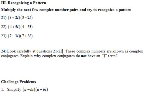 imaginary numbers practice worksheet multiply complex numbers worksheet pdf and answer key 28 scaffolded questions on simplifying
