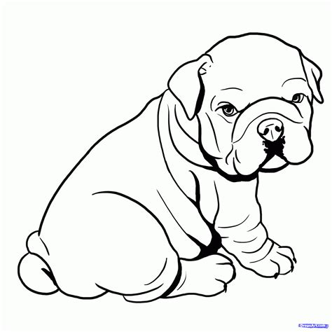 black and white coloring pages of dogs bulldog coloring pages printable coloring home