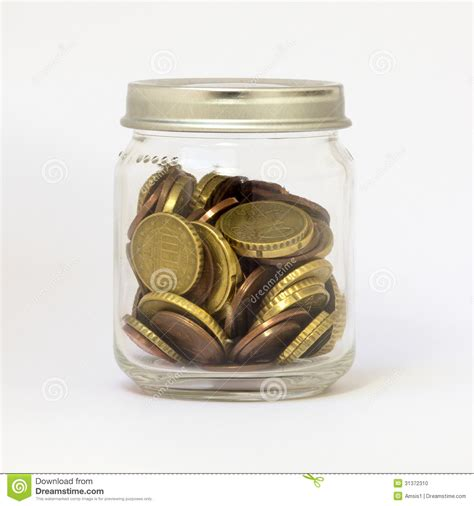 chagne glass stack of coin jar stock image cartoondealer com 66343639