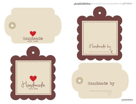 Handmade Label - free handmade digital labels for gifts